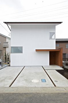 House in Daitakubo House Doors, Facade House, Minimalist Architecture, Interior Architecture, Japan Modern House, Small Modern Home, Minimal Home, Box Houses, Japanese House