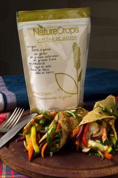 Creps de Harina De Quinoa Orgánica con Vegetales Salteados