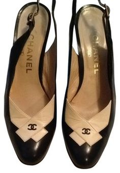 Chanel Navy And White Pumps shop Brenda M closet on tradesy.com