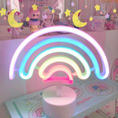 Kawaii Cute Rainbow Neon LED Rainbow Light Lamp Home Decor sold by jmap shop. Shop more products from jmap shop on Storenvy, the home of independent small businesses all over the world. Pastel Room Decor, Cute Room Decor, Pastel Bedroom, My Room, Girl Room, Room Ideas Bedroom, Bedroom Decor, Lila Party