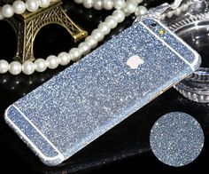 Worth *12* Cool Points iPhone 6 Plus, 6/6S - Frosted Ice Glitter Decal Skin in Assorted Colors Item 1913 - Specialty: Shimmering, jewel-tone, new body skins are the rage. Just stick to your phone for