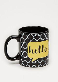 Abstract Hello Mug   rue21