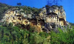 The magnificent Lycian rock tombs, circa 2500 BC, near Dalyan, Turkey.  Saw them last month.  Outstanding!
