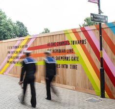 MVMNT Cafe by Morag Myerscough  (recreate with string??)