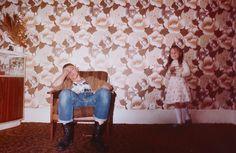 NAN GOLDIN | Skinhead with child, London, 1978 | Dye destruction print, printed late 1980s