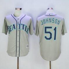 Men's Seattle Mariners #51 Randy Johnson Retired Gray 2015 MLB Cool Base Jersey