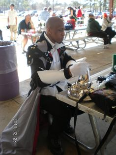 Xehanort...just...hanging out and drinking some tea...at a park...XD