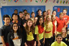 Toda la clase está llevando los colores de Alemania para participar en la semana y difundir la celebración de la cultura.