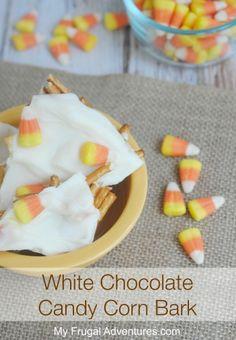 Quick & Easy Halloween Treat: White Chocolate Candy Corn Bark