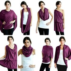 8+ ways to wear. Travel clothing must have. Made in canada using lux Eco-friendly fabric. Save $10 off preorder of raspberry or plum colours using code WINTER at checkout, click to shop!
