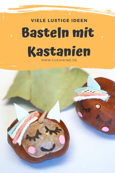 Crafts with Basteln mit Kastanien Tinker funny chestnut animals with children: unicorn, whale, bear, fox. With instructions and video. # chestnuts withchildren with chestnuts - Easy Diys For Kids, Easy Toddler Crafts, Easy Diy Crafts, Mothers Day Crafts For Kids, Diy Mothers Day Gifts, Winter Crafts For Kids, Kids Oven, Mother's Day Diy, Healthy Meals For Kids