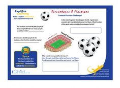 Football Fractions - help make maths more fun for your kids!  iChild.co.uk