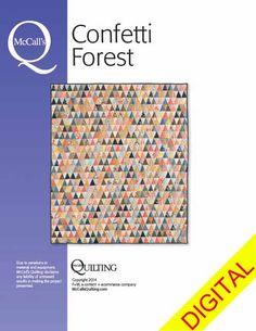 Confetti Forest Digital Quilt Pattern