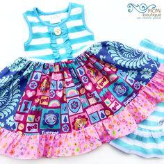 PAW Patrol Skye Everest dress Momi boutique custom dress by momiboutique on Etsy