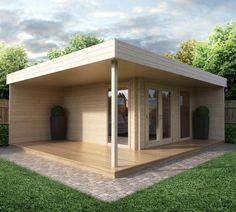 Modernes Gartenhaus mit Terrasse Hansa Lounge