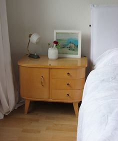 Gorgeous cabinet next to the bed
