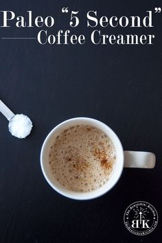 Homemade Paleo Coffee Creamer - This is a coffee game changer. It only takes a few seconds to whip up (w/ the Vitamix) & is a clean eating option for those of you who love flavored coffee creamer. Dairy Free Recipes, Whole Food Recipes, Gluten Free, Healthy Recipes, Paleo Coffee Creamer, Natural Coffee Creamer, Coffee Games, How To Eat Paleo, Coffee Recipes