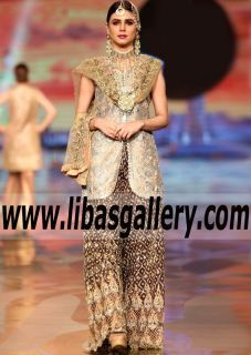 High Fashion Formal Dress with Exquisite Embellished Flared Trouser for any Occasion - Planning a wedding? Start here for your daily inspiration on all wedding apparel! This Jacket style is coming Bridal Couture Week  2017! Stay Tuned! www.libasgallery.com #UK #USA #Canada #Australia #France #Germany #SaudiArabia #Bahrain #Kuwait #Norway #Sweden #NewZealand #Austria #Switzerland #Denmark #Ireland #Mauritius #Netherland  #bridesmaids #specialoccassion #love #bridalparty #bridesmaiddress…