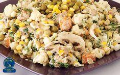 سالاد ماکارانی قارچ Mushroom Recipes, Mushroom Food, Pasta Salad, Potato Salad, Stuffed Mushrooms, Potatoes, Ethnic Recipes, Crab Pasta Salad, Stuff Mushrooms