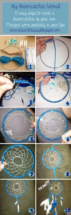 DIY Dreamcatcher Tutorial in 10 easy steps! Easy to make and looks great at www.artsandclassy.com