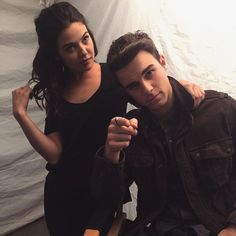Nate Buzz & Danielle Campbell onset of The Originals