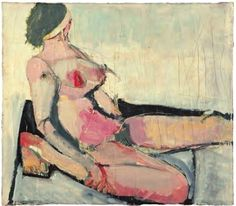 Richard Diebenkorn, untitled nude, 1954