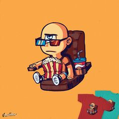 Little Cyclops at the movies on Threadless