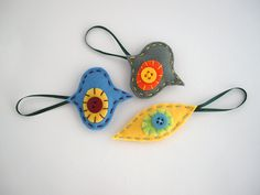 Christmas ornaments  Felt retro shapes in by FishesMakeWishesHome, €13.00