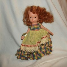 "NANCY ANN STORYBOOK Doll #161 Jennie Set the Table ~ 5-1/2"" Bisque Doll by PastPossessionsOnly on Etsy"