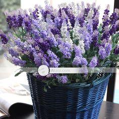 $ 9,39 floral elegante decoração de seda flores artificiais Lavender apenas | Gifts.lovesaction.com