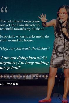 Pregnancy Humor : 9 Quotes About Pregnancy That& Make You Pee Your Maternity Jeans via Pregnancy Must Haves, Pregnancy Tips, Funny Pregnancy Memes, Quotes About Pregnancy, Ali Wong, Pregnant Mom, Mom Humor, Twin Humor, Trendy Baby