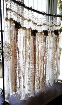 Custom French Shabby Chic Vintage Crochet Lace Burlap Curtain Rustic Romantic ANTIQUE Lace Kitchen Valance bathroom window Treatment, As it pertains to bed room design concepts, several things consider core stage. Shabby French Chic, Shabby Chic Français, Cortinas Shabby Chic, Cortinas Boho, Shabby Chic Romantique, Shabby Chic Garland, Shabby Chic Zimmer, Shabby Chic Kitchen Decor, Shabby Chic Living Room
