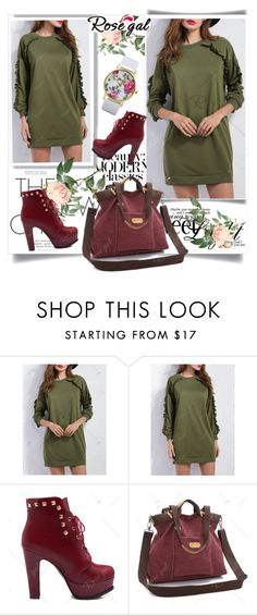 """""""Sweatshirt Dress"""" by fashionb-784 ❤ liked on Polyvore featuring fashionable and rosegal"""
