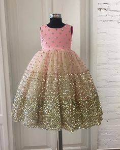 Lets bling it on!! A shimmery pink gown with layers of mint green for your lil angel#welovedressingup#kidswear#kidsstylist#kidsluxury#kidscouture#