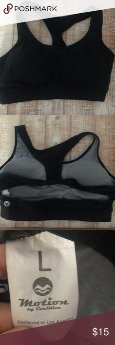 MOTION by COALITION Black Strappy Sports Bra The back cutout is super cute Motion by Coalition Intimates & Sleepwear Bras