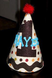 DIY Birthday Hat.  Too cute!