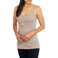 Faded Glory Women's Essential Layering Tank Top, Size: XL