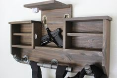 New to this sub so if this doesnt belong here-please let me know! Can anyone help give me directions or a place to start on making this project? I dont have much experience so even helpful suggestions are appreciated! Hidden Gun Safe, Hidden Gun Storage, Police Duty Gear, Wood Projects, Woodworking Projects, Woodworking Plans, Belt Hanger, Gear Rack, Gun Racks