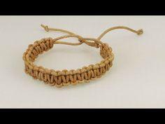 Macrame Armband | Ethno Look | Kreuzknoten Armband aus echtem Leder - YouTube