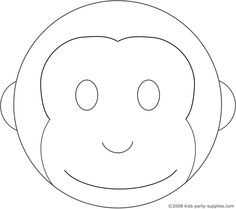 curious george cake template - printable monkey face template tom da baker pinterest