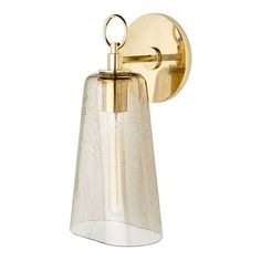Arundel Wall Mounted Single Arm Sconce with Glass Shade