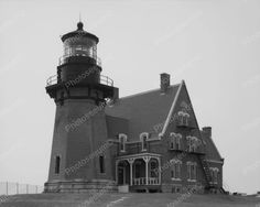 Original vintage old photos reproduced into contemporary prints. All photographs are chemically processed in photo labs and in great condition. Abandoned Lighthouse Vintage 8x10 Reprint Of Old Photo 1