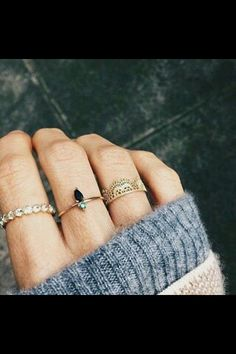 Stylish Knuckle Ring Chain Double Rings Silver sp Sleek Hipster Boho Fun Smooth