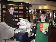 youngandundecided:    Dan buying Quidditch Trhough the Ages and Fantastic Beasts and where to find them :P