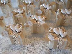 Bomboniera shabby chic scatola con gessetto profumato cod. 324E
