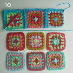 The Patchwork Heart: Joining Squares Method 3 - Continuous join as you go