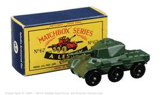 The Ultimate Matchbox Grizzly Collection of Ralph Richter | Regular Wheels | Vectis Toy Auctions Matchbox Regular Wheels No.67A Saladin Armoured Car