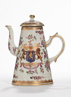 Samson Porcelain Armorial Coffee Pot