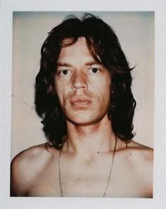 """Photographed here:  singer and friend of Warhol, Mick Jagger as seen in, """"Andy Warhol: Polaroids/MATRIX 240,"""" now showing at Berkeley Art Museum and Pacific Film Archive..all photographed between 1970-1987..."""