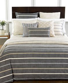 Hotel Collection Modern Colonnade King Coverlet